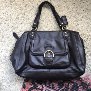 Genuine Coach Purse - Dark Brown Leather